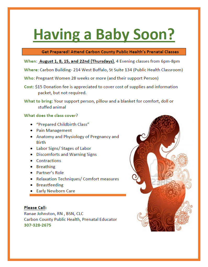 Having a Baby Soon Newsletter August